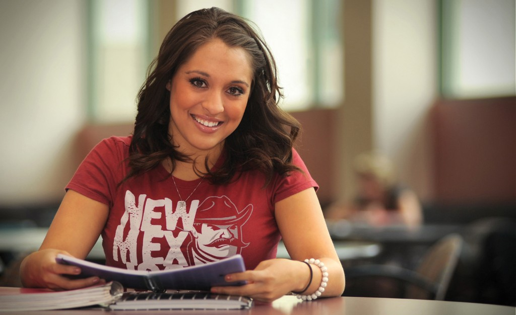 03/15/2012: Billboard: NMSU student Gabriella Ferrari (photo by Darren Phillips)